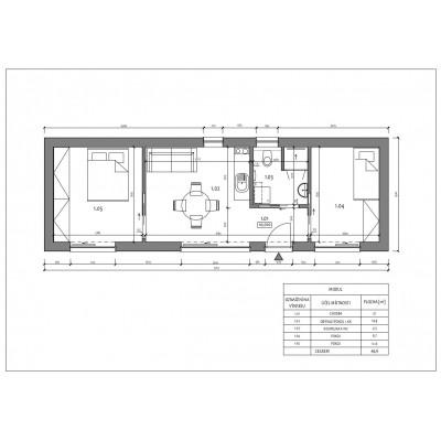 Casă modulară cu 3 camere